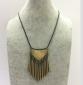 欧美复古金属流苏毛衣链秋冬女装搭配合金项链中高端女装饰品定制