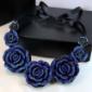 蓝玫瑰项链 圣诞节礼物