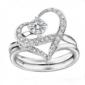"""戒指女款""""幸福指环""""珠光宝气黎姿一款三戴可拆分-月光爱人"""